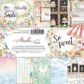 Karten und Scrapbooking Papier, Papier blöcke Set di carta, Memory Place, So Sweet, 15,5 x 15,5 cm, 6 x 6 pollici