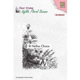 Transparant stempelontwerp van Nellie Snellen, vogelnest in een boom