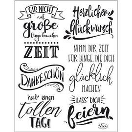 VIVA DEKOR (MY PAPERWORLD) A5, transparante stempel, Duitse teksten