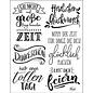 VIVA DEKOR (MY PAPERWORLD) A5, transparent stamp, German texts