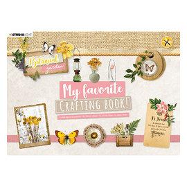 Studio Light A4, handicraft pad, botanical garden, 13 sheets!