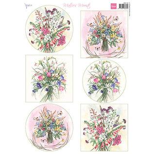 Marianne Design Picture sheet, A4, Mattie's Mooiste, Field Bouquets