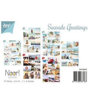 """A4 set with 12 picture sheets, """"Greetings by the sea"""", 2 x 6 designs"""