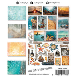 Studio Light EASYOV649 - Udstanset papirsæt Ocean View nr.649