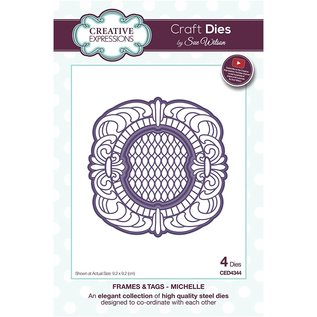 CREATIVE EXPRESSIONS und COUTURE CREATIONS Stamping and embossing template, decorative frame, Sue Wilson
