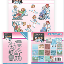 Yvonne Creations Punching stencils SET, designer block and die cut sheet collection Theme: Health