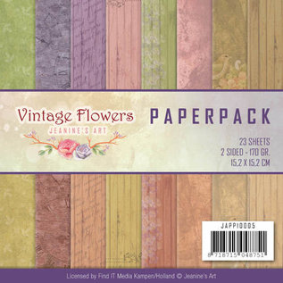 Joy!Crafts / Jeanine´s Art, Hobby Solutions Dies /  Paperpack - Jeanine Art - Vintage Flowers