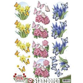 AMY DESIGN A4, pushout, fleurs avec papillons