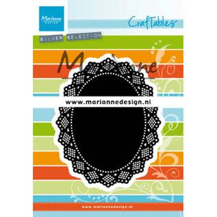 Marianne Design Ponsen en embossing sjabloon, CR1500, ovale shaker