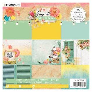 Studio Light Designer pad, 36 sheets, 15 x 15cm, 170 Gsm cardstock!