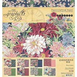 GRAPHIC 45 Bloc de créateur, bloc de papier, Blossom, 20,3 x 20,3 cm