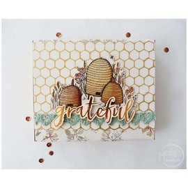 """Craft Consortium Stamp motifs, transparent, bees, """"Tell the Bees"""""""