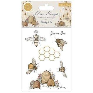 "Craft Consortium Stempelmotieven, transparant, bijen, ""Tell the Bees"""