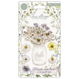 "Craft Consortium Stamp motifs, transparent, A5 format, wildflowers, ""Meadow"""