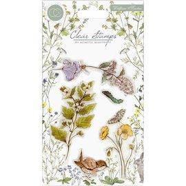Craft Consortium Frimærkemotiver, gennemsigtigt, A5-format, vilde blomster