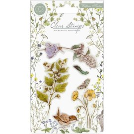 Craft Consortium Motivos de sellos, transparente, formato A5, flores silvestres