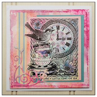 Craft Consortium Stamp motifs, 10 x 8 cm, rubber unmounted, for design on cards, albums, collages, and much more
