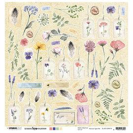 Studio Light Feuille de scrapbooking, 30,5 x 30,5 cm, Fleurs botaniques