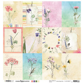 Studio Light Foglio per scrapbooking, 30,5 x 30,5 cm, fiori botanici