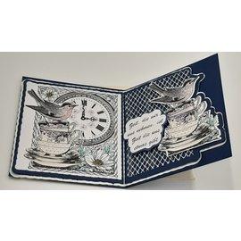 Craft Consortium Frimerkemotiver, 10 x 8 cm, gummi umontert, for design på kort, album, collager og mye mer