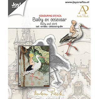 Cutting, embossing and debossing template, baby with stork, Joy Crafts, 6002/1612