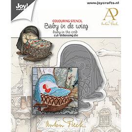 Borde, repujado y repujado, Baby in Wiege, 6002/1610