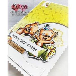 Stempel / Stamp: Transparent Frimærke Gennemsigtig, A5, Cc.Designs, søde bjørne