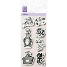 Cart-Us Stamp SET, rubber, with 7 motifs, vintage romance