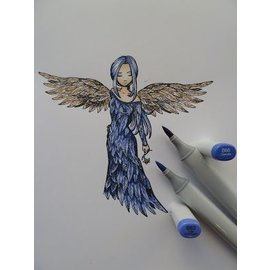 """Stempel / Stamp: Transparent Tampon en caoutchouc, """"un ange à aimer"""" DERNIÈRE COPIE !!"""