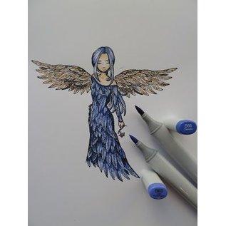"""Stempel / Stamp: Transparent Rubberzegel, """"een engel om van te houden"""" LAATSTE KOPIE !!"""