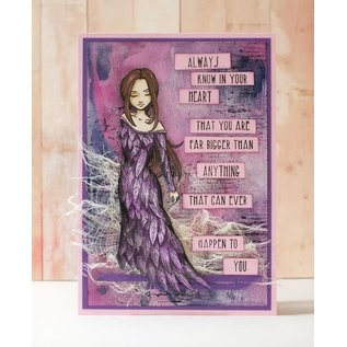 """Stempel / Stamp: Transparent Rubber stamp, """"an angel to love"""" LAST COPY !!"""