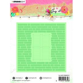 Studio Light StudioLight, embossing template, 150 x 150 mm, SL Emb. Folder & Cutting Die Say it with flowers nr.11,