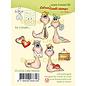 Leane Creatief - Lea'bilities und By Lene Stamp SET, A6, Transparent, Little Worms, Leane Creatief