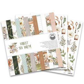 Designer Papier Scrapbooking: 30,5 x 30,5 cm Papier Papier Designerblock, Forest tea party, 30 x 30 cm