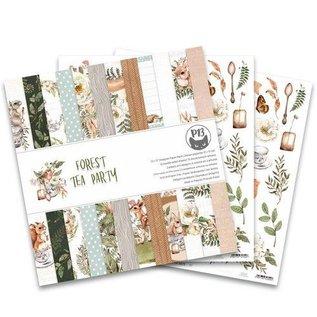 Designer Papier Scrapbooking: 30,5 x 30,5 cm Papier Paper designer pad, Forest tea party, 30 x 30 cm