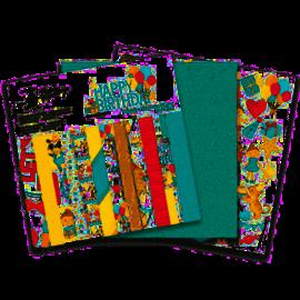 Designer Papier Scrapbooking: 30,5 x 30,5 cm Papier Bloc de papier design, Happy Birthday, 30 x 30 cm