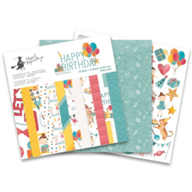 Designer Papier Scrapbooking: 30,5 x 30,5 cm Papier Papier Designerblock, Happy Birthday, 30 x 30 cm