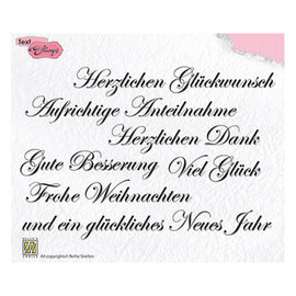 Stamp SET, 148 x 102 mm, German texts