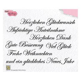 Stempel SET, 148 x 102 mm, Duitse teksten