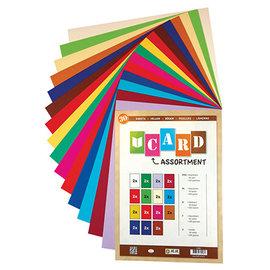 Karten und Scrapbooking Papier, Papier blöcke Cardstock SET, 250 gsm, A4, 30 sheets, in various colors, 15 x 2