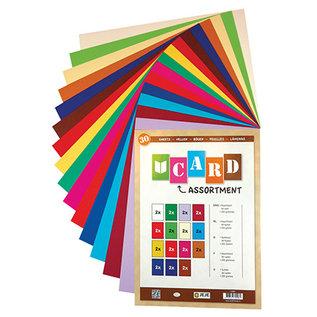 Karten und Scrapbooking Papier, Papier blöcke Cardstock SET, 250 gsm, A4, 30 Blatt,  in diverse Farben, 15 x 2