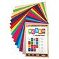 Karten und Scrapbooking Papier, Papier blöcke SET de papier cartonné, 250 g / m2, A4, 30 feuilles, en différentes couleurs, 15 x 2