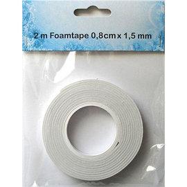 BASTELZUBEHÖR, WERKZEUG UND AUFBEWAHRUNG Foam tape, 1.5mm x 8mm x 2mtr, double-sided adhesive