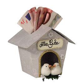 Art stencil, bird house, for handicrafts with paper, foam rubber, felt,