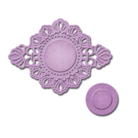 Embossing and punching template, decorative frame, 2 parts