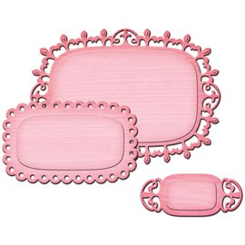 Punching and embossing template SET: 3 decorative frames