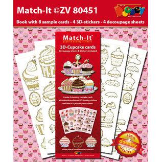 Doodey Knutselpakket, voor 8 kaarten, cupcakes