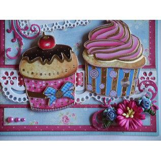 Doodey Kit artigianale, per 8 carte, cupcakes
