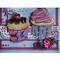 Doodey Craft kit, til 8 kort, cupcakes