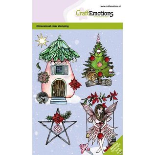 Craftemotions Motif stamp, A6, fairy house, many individual motifs!